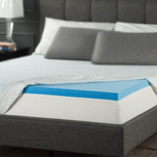 历史新低!Zinus 2英寸 Queen凝胶记忆海绵床垫Topper 59.99加元包邮!