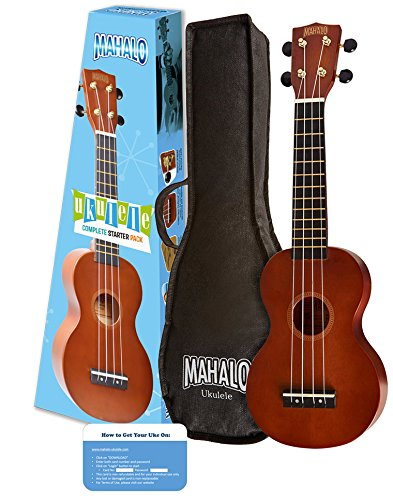 近史低价!Mahalo Rainbow Soprano Ukulele 夏威夷小吉他/尤克里里套装5折 25.81加元!
