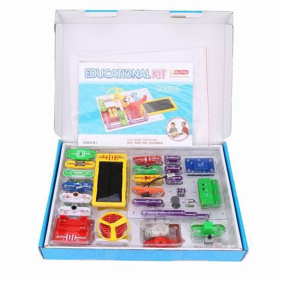 白菜价!历史新低!Virhuck WⅡ-688 电路DIY 益智拼接玩具3折 18.19加元清仓!可拼接300个电子作品!