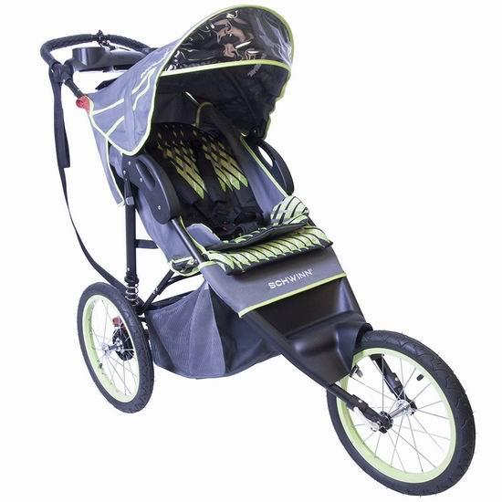 历史新低!Schwinn 01569CBJF Jogger 大三轮 婴儿推车6.1折 169.97加元包邮!