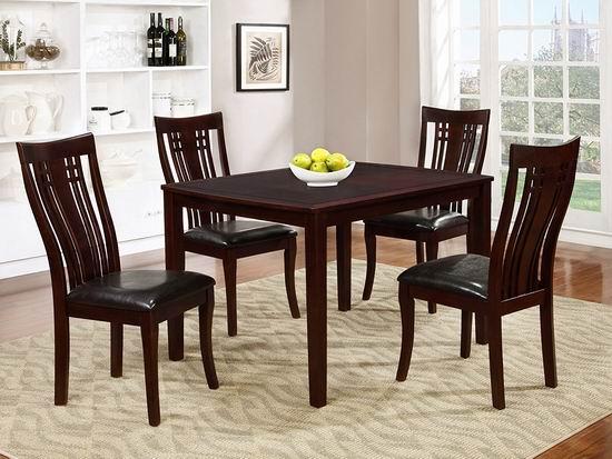 历史新低!Brassex 995-15 Fairmount 时尚长方形 餐桌椅5件套 399.99加元包邮!