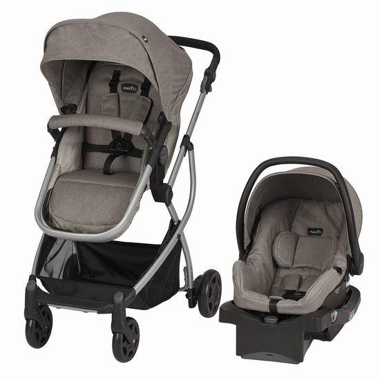 历史新低!Evenflo Pursuit Modular 五合一 模块化婴儿推车+婴儿提篮套装5.4折 199.97加元包邮!