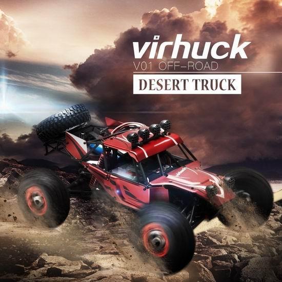超级白菜!Virhuck V01 1/12 四驱 大型遥控越野车1折 24.08加元清仓并包邮!免税!时速可达每小时40公里!