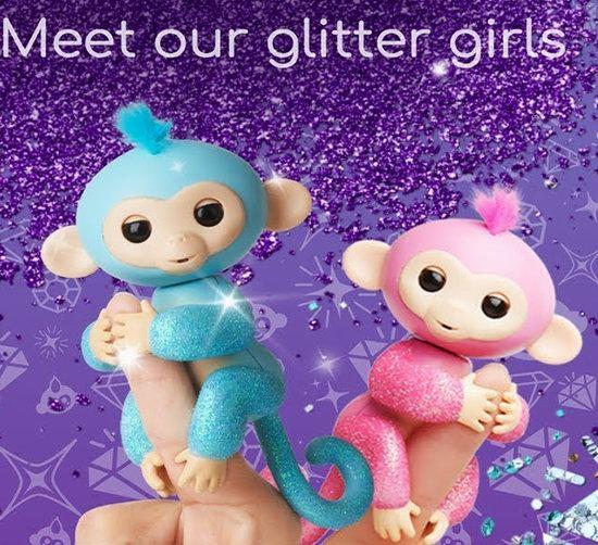 历史新低!WowWee Fingerlings Glitter 闪亮系列 互动指尖宠物 手指猴 16.99加元!4色可选!