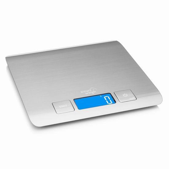 历史新低!Smart Weigh 时尚不锈钢厨房秤2.8折 9.99加元清仓!