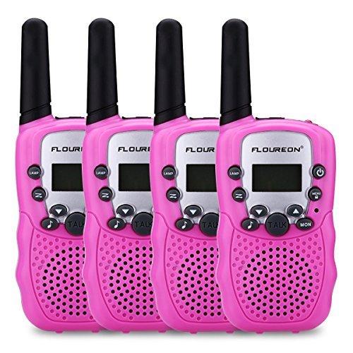 超级白菜!FLOUREON Twin 儿童远距离 无线手台/对讲机4件套2.5折 16加元包邮!