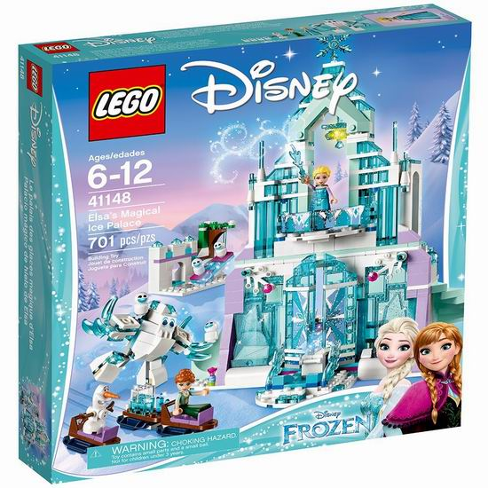 历史最低价!LEGO 乐高 41148 冰雪奇缘 艾莎的魔法冰雪城堡(701pcs) 69.97加元包邮!