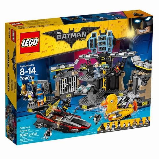 历史新低!LEGO 乐高 70909 蝙蝠侠大电影 蝙蝠洞突袭(1047PCS)7.2折 93.97加元包邮!