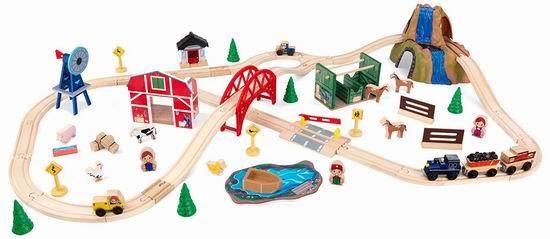 历史新低!KidKraft Farm 木制农场 小火车玩具套装4.7折 62.42加元!