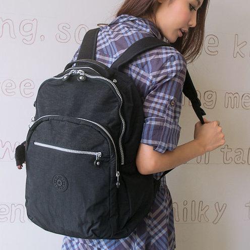 历史新低!Kipling Seoul L 黑色经典百搭款 双肩背包4.9折 72.11加元包邮!
