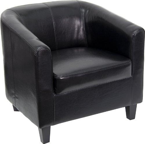白菜价!历史新低!Flash Furniture BT-873-BK-GG 真皮单人沙发1.6折 122.57加元包邮!