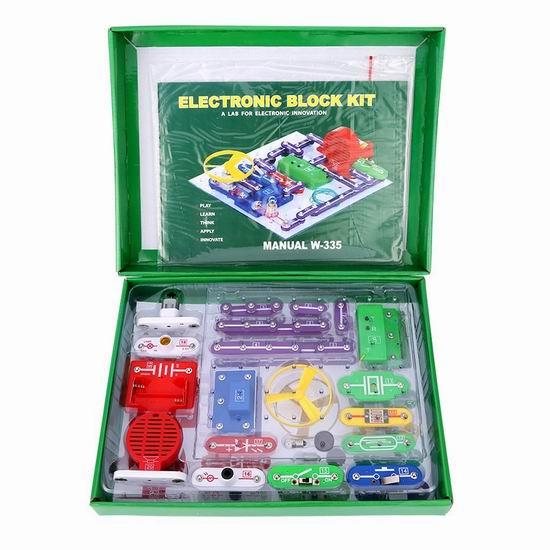 白菜价!历史新低!Virhuck W-335 电路DIY 益智拼接玩具2.2折 11.19加元清仓!可拼接300个电子作品!