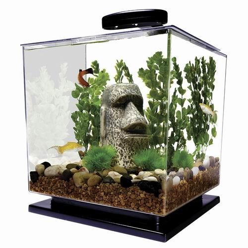 销量冠军!MarineLand Tetra Cube 3加仑 水族箱/鱼缸套装 45.07加元包邮!