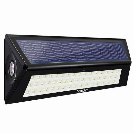 白菜价!历史新低!Naisidier 50 LED 超亮太阳能 运动感应灯3.1折 8.99加元清仓!