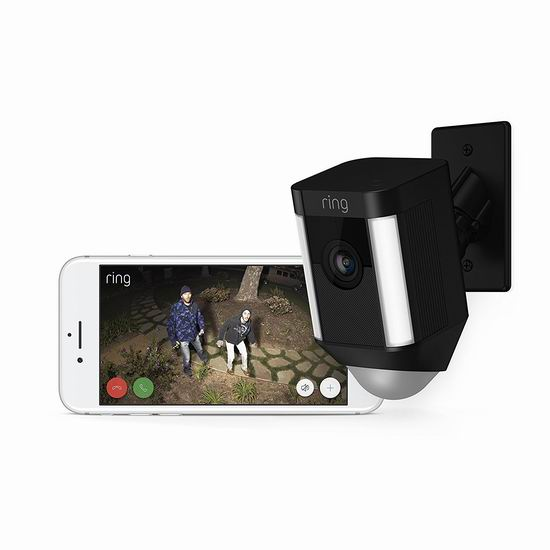 历史新低!Ring 8SH5P7-BEN0 Spotlight Cam 家庭安防摄像头5.3折 167.89加元包邮!