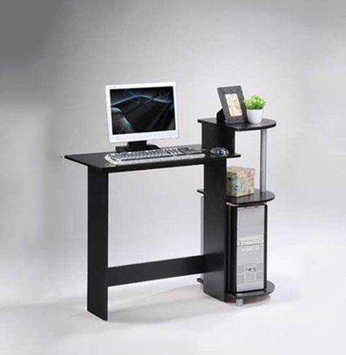 近史低价!Furinno 11181BK/GY 紧凑型电脑桌 39.32加元包邮!