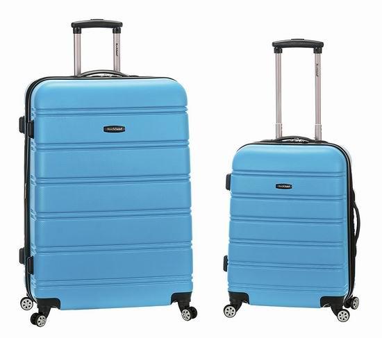 历史新低!Rockland F225 20寸+28寸 绿松石色 硬壳可扩展拉杆行李箱3.1折 103.31加元包邮!