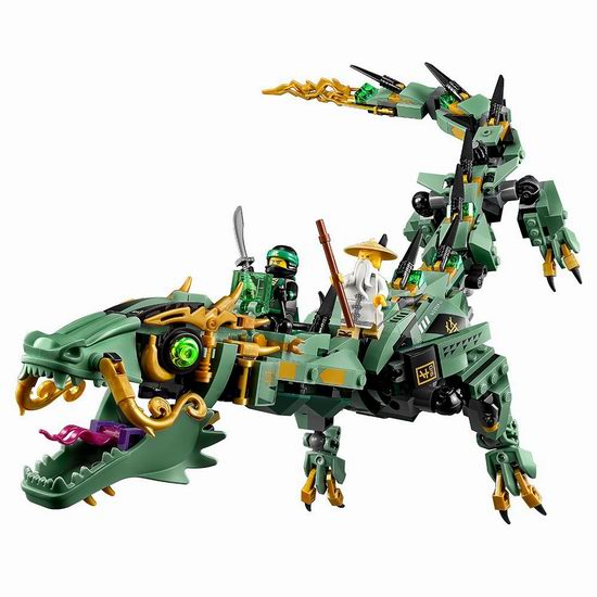 LEGO 乐高 70612 幻影忍者系列 绿忍者的飞天机甲神龙(544pcs)7.2折  46.99加元包邮!