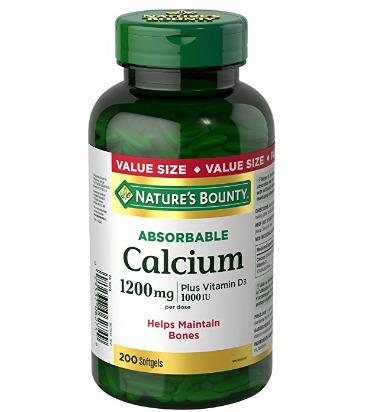 Nature's Bounty 200粒可吸收钙+维他命D3软胶囊 13.27加元,原价 19.49加元
