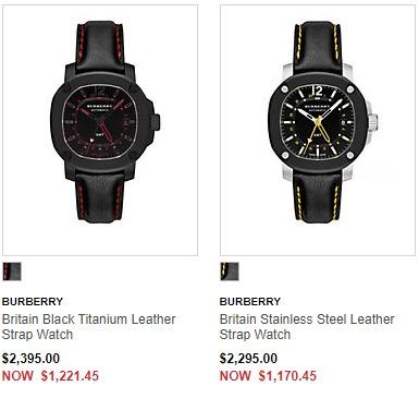 全面降价!精选4款 Burberry 博柏利/巴宝莉时尚腕表5.1折 413.94加元起特卖!