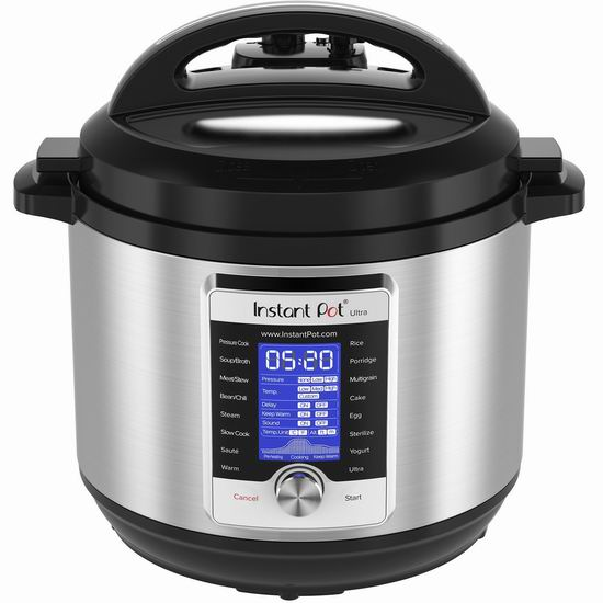 近史低价!最新款 Instant Pot Ultra 8夸脱超大容量 10合一 超智能电压力锅 189.99加元包邮!