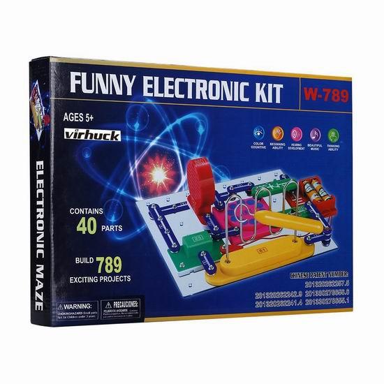 历史新低!Virhuck W-789 电路DIY 益智拼接玩具3.7折 22.09加元限量特卖!
