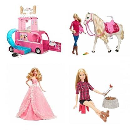 精选 Barbie 芭比玩偶、玩偶套装4.8折起!售价低至8.39加元!