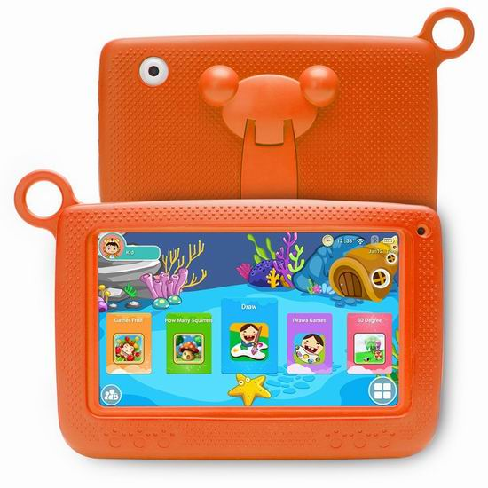 NPOLE 7英寸 儿童平板电脑 39.01加元限量特卖并包邮!4色可选!