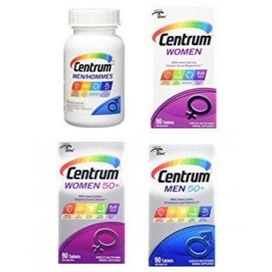 精选多款 Centrum 善存 成人及老人 男女复合维生素+矿物质补充剂 10.42加元起!
