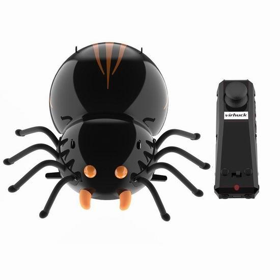 超级白菜!Virhuck 逗逗虫 蜘蛛 DIY遥控仿生机器人0.9折 5.01加元限量特卖!