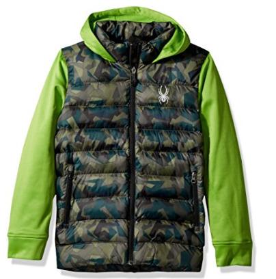 Spyder Mt. Elbert男童羽绒服 37.37加元起特卖(多色可选),原价 129加元,包邮
