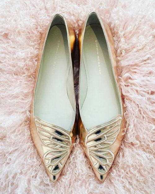 Sophia Webster 金色蝴蝶鞋 190加元(7、7.5码),原价 475加元,包邮