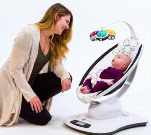 哄宝宝神器!4moms mamaRoo 4 可蓝牙控制 婴儿电动摇摇椅 289.97加元,原价 328.95加元,包邮