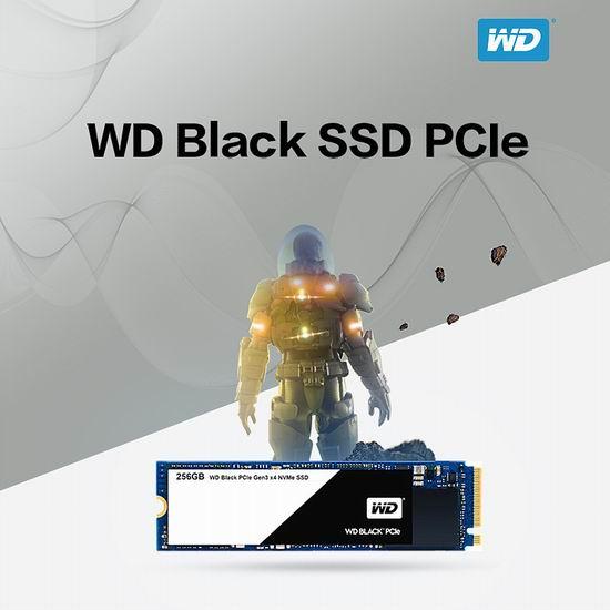 历史新低!WD 西数 Black Performance M.2 PCIe 256GB SSD 卡式固态硬盘6.1折 109.99加元包邮!