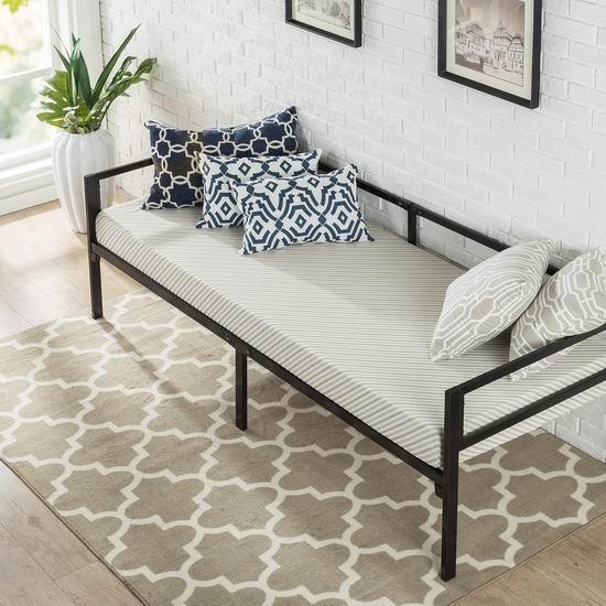近史低价!Zinus Quick Lock 两用金属沙发床+床垫套装 178.98加元包邮!