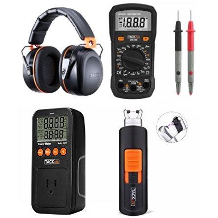 金盒头条:精选4款 Tacklife 万用表、电器功率测量仪、电子点烟器、隔音耳罩,全部仅售23.97-23.98加元!