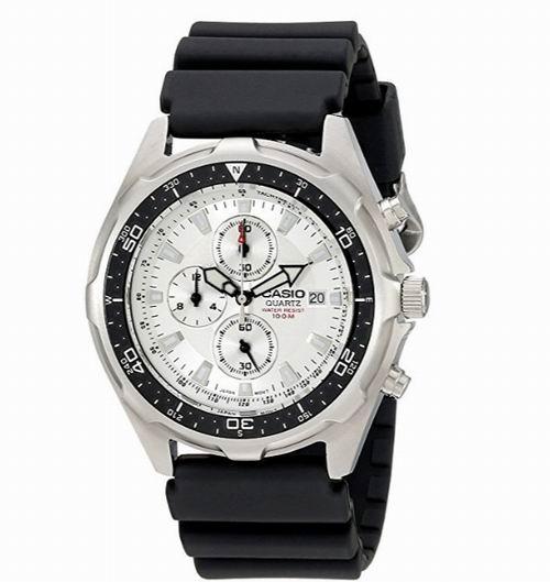 历史新低!Casio 卡西欧 AMW330-7AV 三眼计时 男士腕表/手表4.4折 60加元包邮!