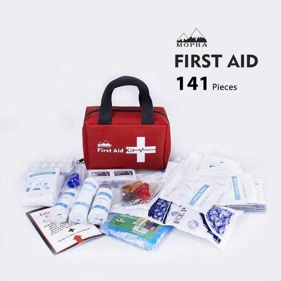 Mopha 便携式家庭医疗急救包141件套 25.56加元限量特卖!