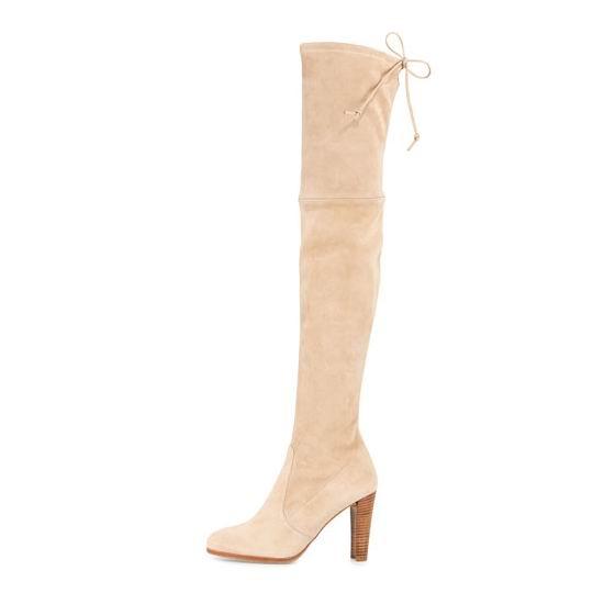 白菜价!Stuart Weitzman Highland 女士高跟过膝长靴2.2折 228.47加元起包邮!