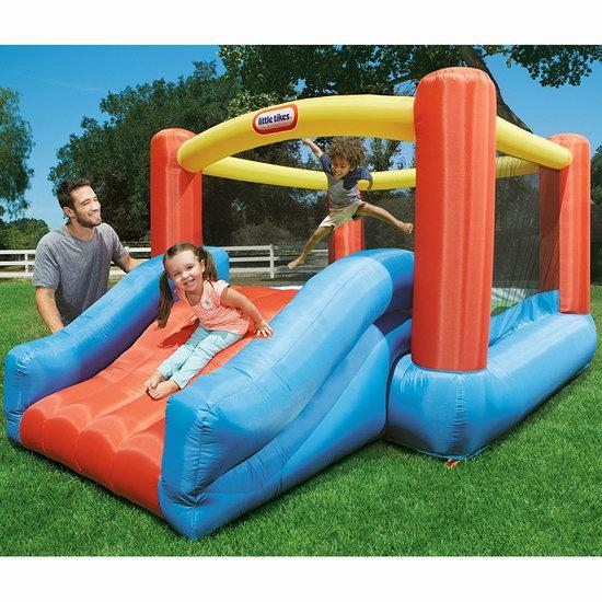 历史新低!Little Tikes 小泰克 Junior Jump N Slide 大型一体式儿童充气蹦床+滑梯 169.97加元包邮!