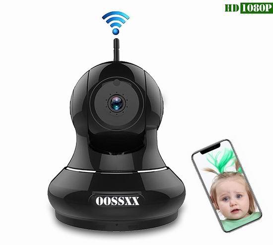 白菜价!历史新低!OOSSXX 1080P 无线Wi-Fi安全监控摄像头3折 29.99加元清仓!