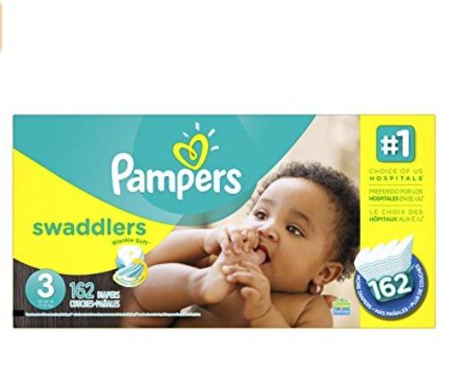 Pampers Swaddlers 帮宝适婴幼儿尿不湿/纸尿裤 28.77加元(size-3、165张),原价 39.99加元,会员价23.75加元