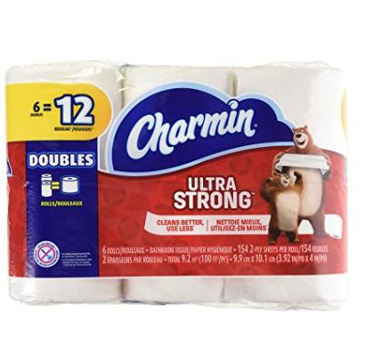 Charmin Ultra 6卷超软卫生纸 3.5加元,原价 5.99加元