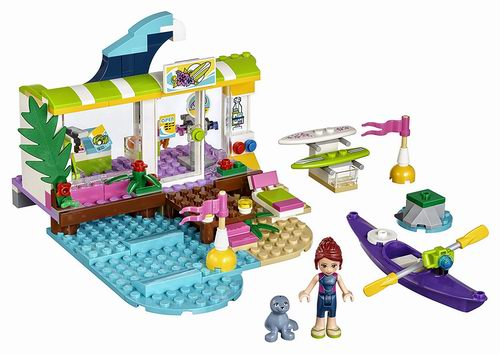 历史新低!LEGO 乐高 41315好朋友系列 心湖城冲浪店(186pcs)6.8折 16.99加元!