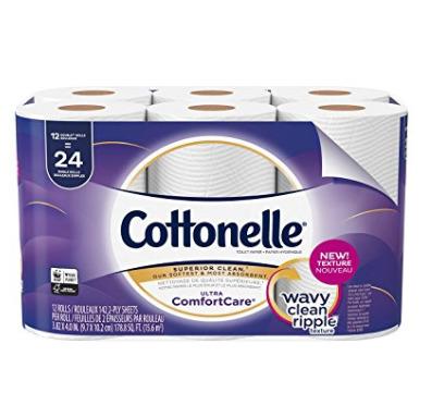 Cottonelle 12卷超软卫生纸 5.99加元,原价 9.99加元