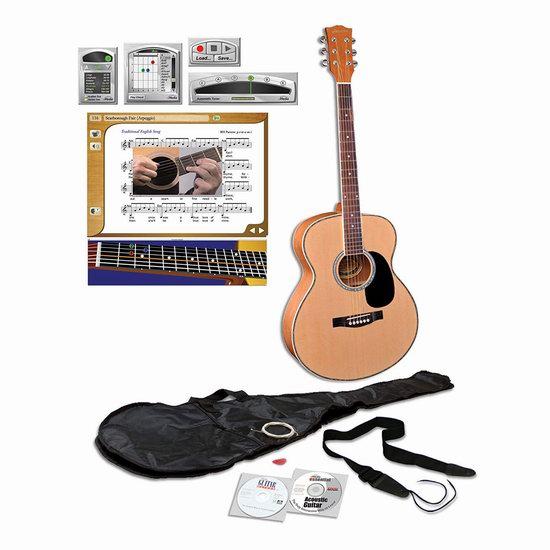 历史新低!eMedia Teach Yourself 40英寸 全尺寸吉他+自学课程套装3.8折 75.22加元包邮!