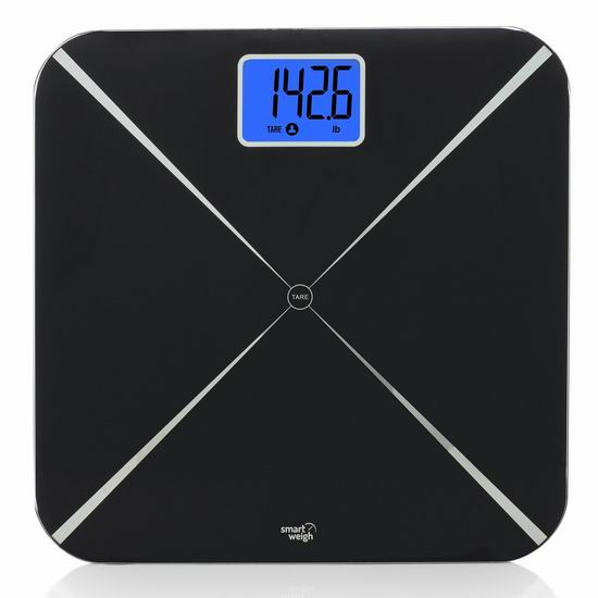 历史新低!Smart Weigh Smart Tare 智能数字体重秤4折 15.99加元!