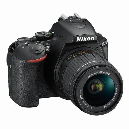 历史新低!NIKON 尼康 D5600 单反套机(AF-P DX 尼克尔 18-55mm f/3.5-5.6G VR) 629.88加元包邮!