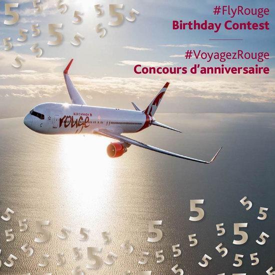 Air Canada 加航 Rouge廉价航空5周年庆!全球航线机票8.5折!