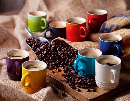Le Creuset 酷彩陶瓷 彩虹咖啡杯 6只装 48加元,原价 120加元,包邮